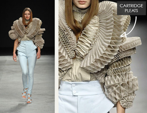 Creating Cartridge Pleats | The Cutting Class. Givenchy, Haute Couture, SS08, Paris.