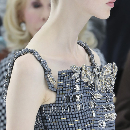Encrusted Fabrics and Sculpted Silhouettes at Chanel | The Cutting Class. Chanel, Haute Couture, AW14, Paris.