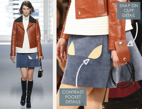 Leather and Knit Details at Louis Vuitton | The Cutting Class. Louis Vuitton, AW14, Paris, Image 3. Pocket and cuff details.