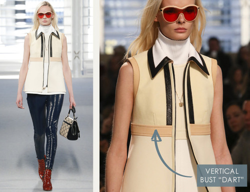 Leather and Knit Details at Louis Vuitton | The Cutting Class. Louis Vuitton, AW14, Paris, Image 10. Dart appears to be lapped and topstitched to reduce bulk.