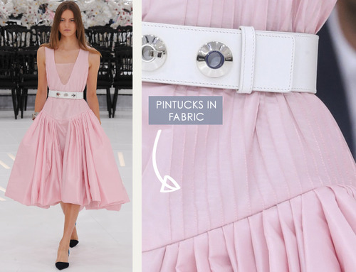 Glossary: Pintucks | The Cutting Class. Christian Dior, Haute Couture, AW14, Paris, Image 1.