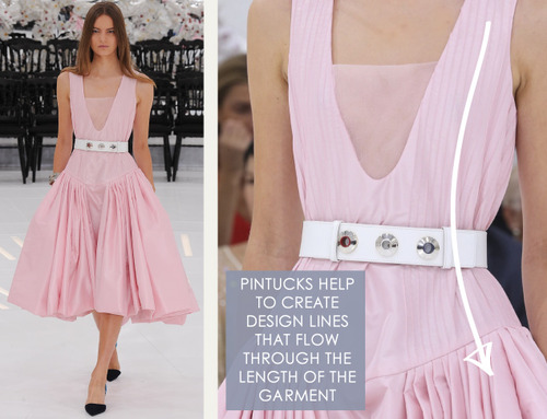 Glossary: Pintucks | The Cutting Class. Christian Dior, Haute Couture, AW14, Paris, Image 2.