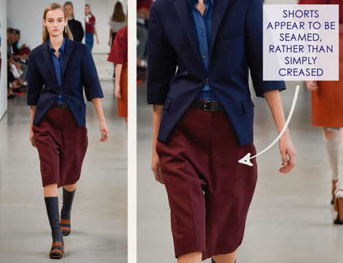 Careful Proportions at Jil Sander   The Cutting Class. Jil Sander, SS15, Milan, Image 9. Shorts appear to be seamed rather than simply creased.