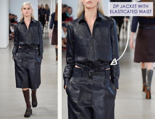 Careful Proportions at Jil Sander   The Cutting Class. Jil Sander, SS15, Milan, Image 12. Zip jacket with elasticated waist.