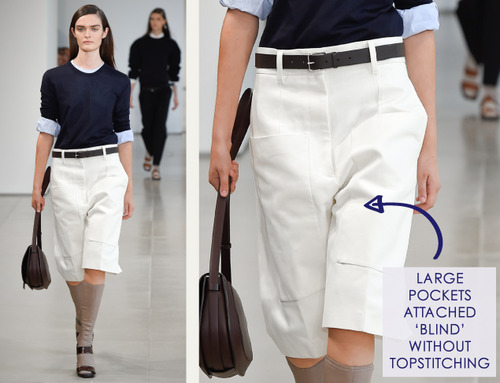 Careful Proportions at Jil Sander   The Cutting Class. Jil Sander, SS15, Milan, Image 13. Large pockets attached blind, without topstitching.