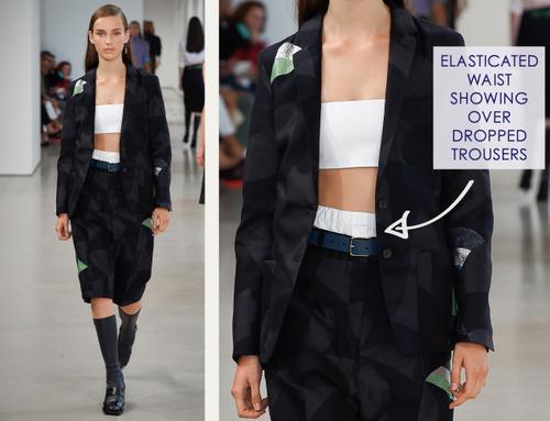 Careful Proportions at Jil Sander   The Cutting Class. Jil Sander, SS15, Milan, Image 16. Elasticated waistband.