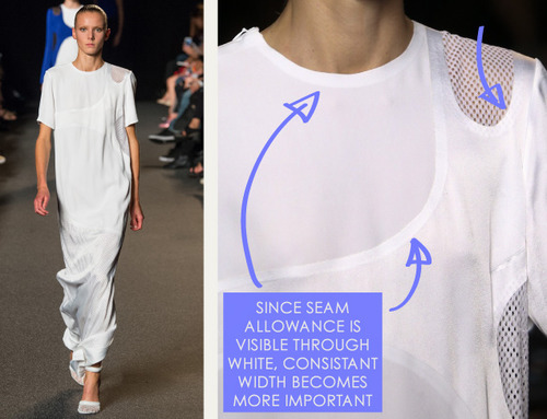 Sneaker References at Alexander Wang | The Cutting Class. Alexander Wang, SS15, New York, Image 10. Seam allowance needs to be especially smooth and consistent on white garments.