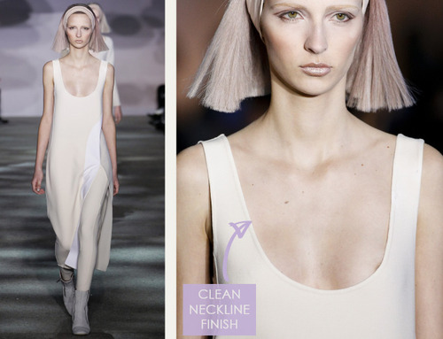 Muted Tones and Soft Curves at Marc Jacobs | The Cutting Class. Marc Jacobs, AW14, New York, Image 1. Clean neckline finish.