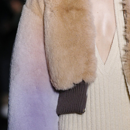Muted Tones and Soft Curves at Marc Jacobs | The Cutting Class. Marc Jacobs, AW14, New York, Image 8b. Furs with soft pastel colour gradients.