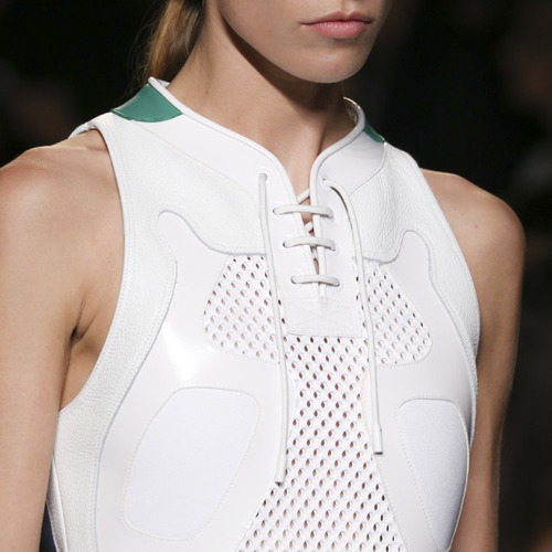 Glossary: Placket at Alexander Wang | The Cutting Class. Alexander Wang, SS15, New York. Placket designed like sneaker shoe laces.