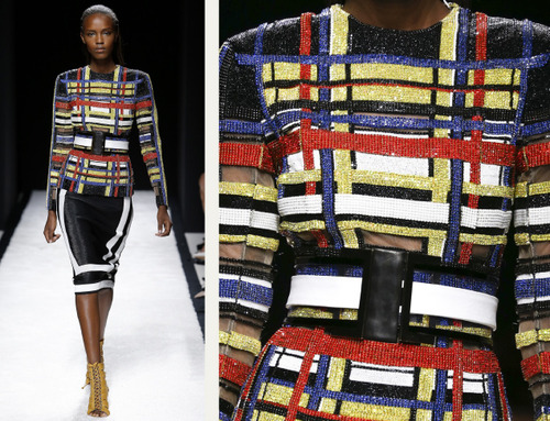 Bold Stripes at Balmain | The Cutting Class. Balmain, SS15, Paris, Image 11.