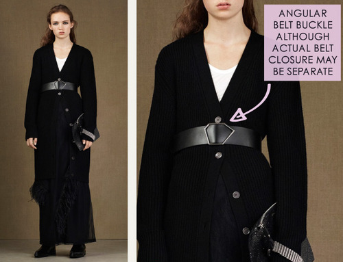 Fractured Prints at McQ | The Cutting Class. McQ, PF15, Image 9. Angular belt buckle.