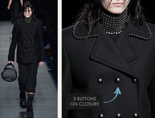 Beaded Trim at Alexander Wang | The Cutting Class. Alexander Wang, AW15, New York, Image 5. 3 buttons on closure.