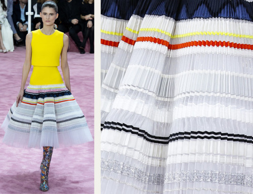 Ribboned Pleats at Dior Haute Couture | The Cutting Class. Christian Dior, Haute Couture, SS15, Paris, Image 5.