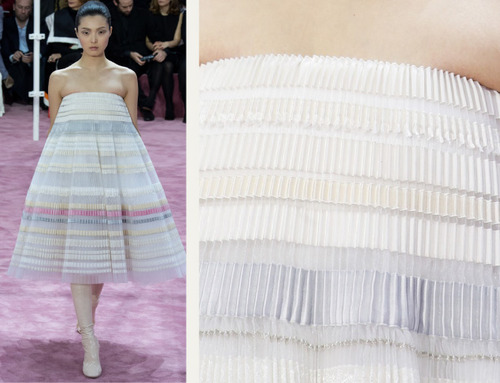 Ribboned Pleats at Dior Haute Couture | The Cutting Class. Christian Dior, Haute Couture, SS15, Paris, Image 6.