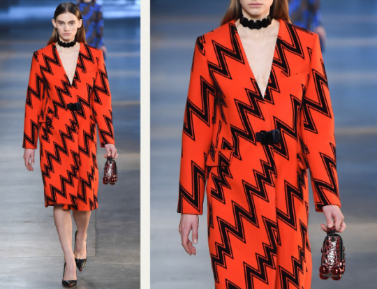 Life Drawing at Christopher Kane | The Cutting Class. Christopher Kane, AW15, London, Image 11. Zigzag design.