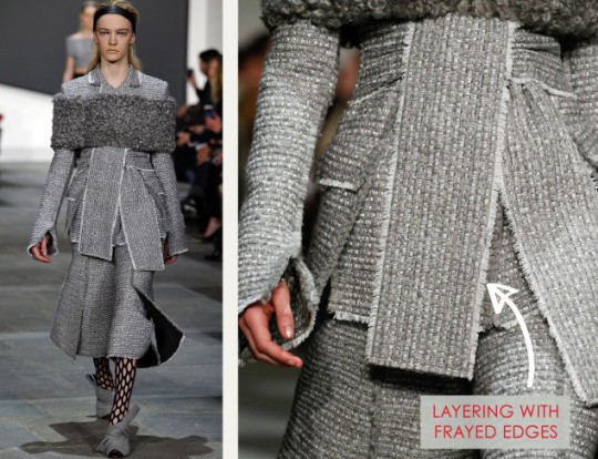 Slits and Peeling Layers at Proenza Schouler | The Cutting Class. Proenza Schouler, AW15, New York, Image 1. Layering with frayed edges.