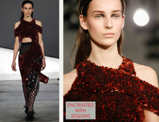 Slits and Peeling Layers at Proenza Schouler | The Cutting Class. Proenza Schouler, AW15, New York, Image 16. Encrusted with sequins.