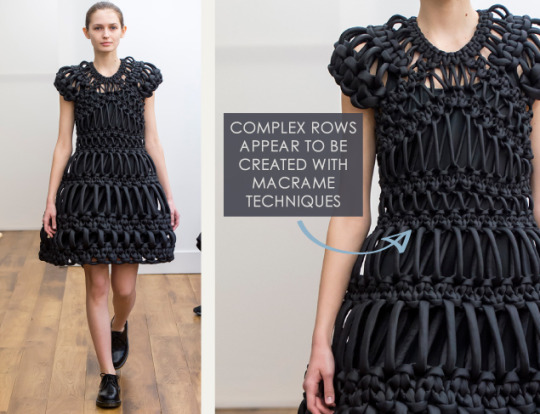 Smocking, Macramé and Modular Patterns at Noir Kei Ninomiya | The Cutting Class. noir kei ninomiya, AW15, Paris, Image 7.