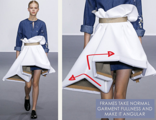Balancing Frames and Canvas at Viktor & Rolf | The Cutting Class. Viktor & Rolf, Couture, AW15, Paris, Image 2. Frames take normal garment fullness and make it angular.