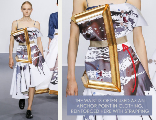 Balancing Frames and Canvas at Viktor & Rolf | The Cutting Class. Viktor & Rolf, Couture, AW15, Paris, Image 8. Waist acts as anchor point, reinforced here with strapping.