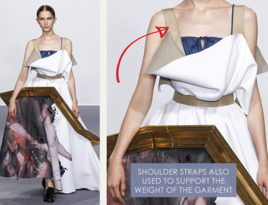 Balancing Frames and Canvas at Viktor & Rolf | The Cutting Class. Viktor & Rolf, Couture, AW15, Paris, Image 9. Shoulder straps support the weight of the garment.