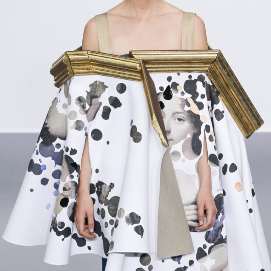 Balancing Frames and Canvas at Viktor & Rolf | The Cutting Class. Viktor & Rolf, Couture, AW15, Paris.