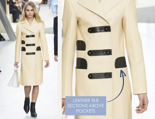 Wearable Innovation at Louis Vuitton | The Cutting Class. Louis Vuitton, AW15, Paris, Image 10. Leather tab sections above pockets.