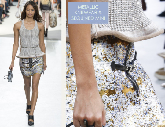 Wearable Innovation at Louis Vuitton | The Cutting Class. Louis Vuitton, AW15, Paris, Image 17. Metallic knitwear and sequined mini.