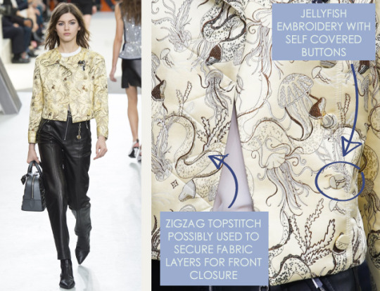 Wearable Innovation at Louis Vuitton | The Cutting Class. Louis Vuitton, AW15, Paris, Image 18. Jellyfish embroidery.