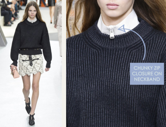 Wearable Innovation at Louis Vuitton | The Cutting Class. Louis Vuitton, AW15, Paris, Image 23. Chunky zip closure on neckband.