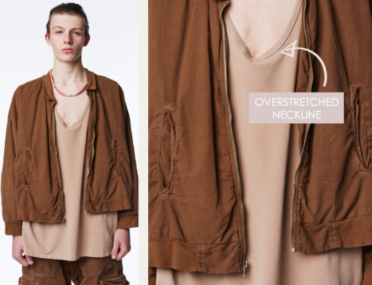Is it ever ok to have bad finishes? The Cutting Class. Yeezy, SS16, New York, Image 4. Overstretched neckline.