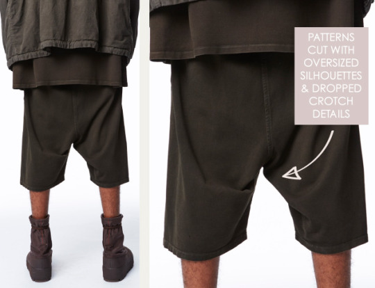 Is it ever ok to have bad finishes? The Cutting Class. Yeezy, SS16, New York, Image 13. Patterns cut with oversized silhouettes and dropped crotch details.
