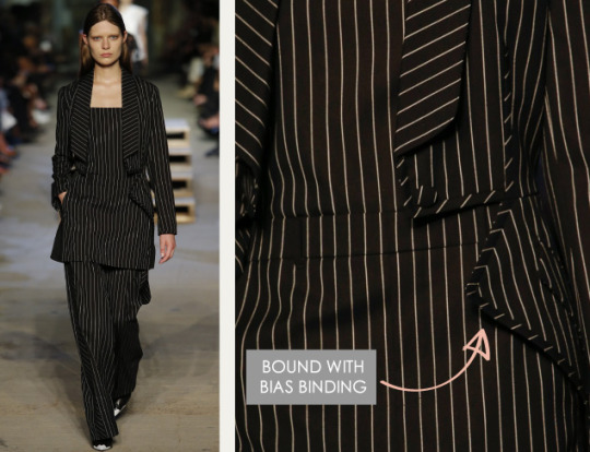 Lingerie and Tailoring at Givenchy | The Cutting Class. Givenchy, SS16, New York, Image 8. Bound with bias binding