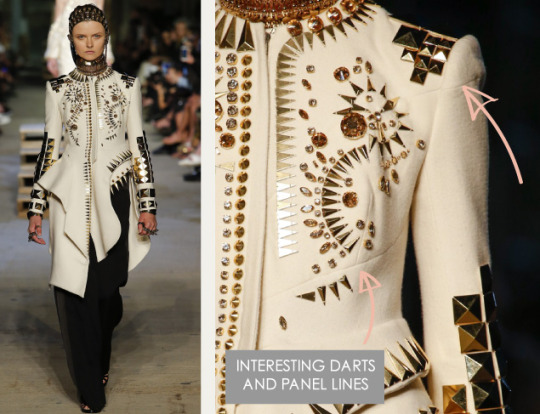 Lingerie and Tailoring at Givenchy | The Cutting Class. Givenchy, SS16, New York, Image 13. Interesting darts and panel lines.