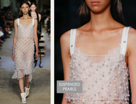 Lingerie and Tailoring at Givenchy | The Cutting Class. Givenchy, SS16, New York, Image 28. Suspended pearls.