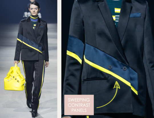 Pleats and Contrasts at Kenzo | The Cutting Class. Kenzo, AW15, Paris, Image 4. Sweeping contrast panels.