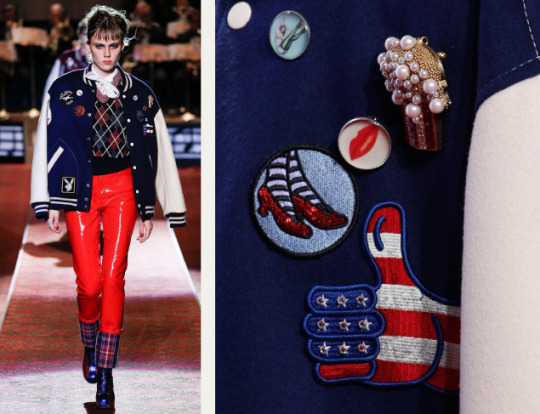 Deconstructed Americana at Marc Jacobs | The Cutting Class. Marc Jacobs, SS16, New York, Image 9. Assorted pins.