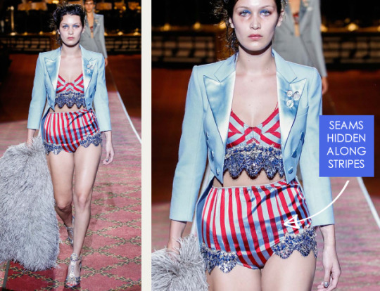 Deconstructed Americana at Marc Jacobs   The Cutting Class. Marc Jacobs, SS16, New York, Image 16. Seams hidden along stripes.