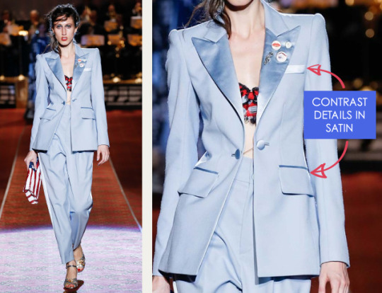 Deconstructed Americana at Marc Jacobs   The Cutting Class. Marc Jacobs, SS16, New York, Image 17. Contrast details in satin.