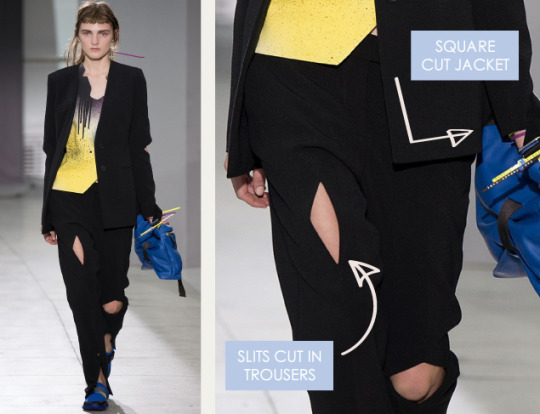Graphic Movement at Christopher Kane | The Cutting Class. Christopher Kane, SS16, London, Image 1. Square cut jacket.