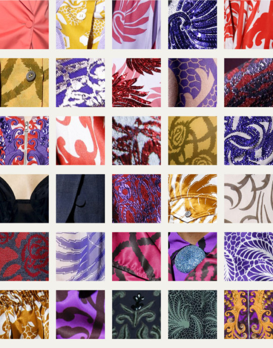Coordinated Chaos at Dries Van Noten | The Cutting Class. Dries Van Noten, SS16, Paris, Fabric swatches part 2.