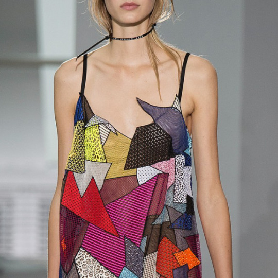 Graphic Movement at Christopher Kane | The Cutting Class. Christopher Kane, SS16, London.