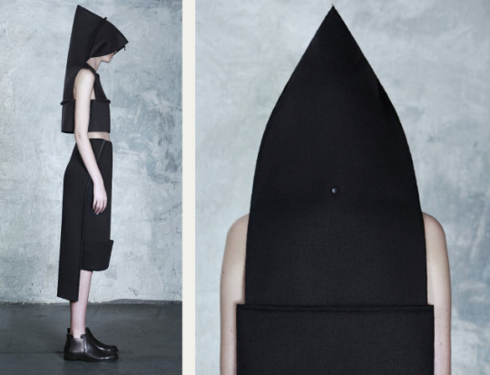 "Wearable Architecture at DZHUS | The Cutting Class. DZHUS, ""Totalitarium"", AW15, Kiev, Image 13."