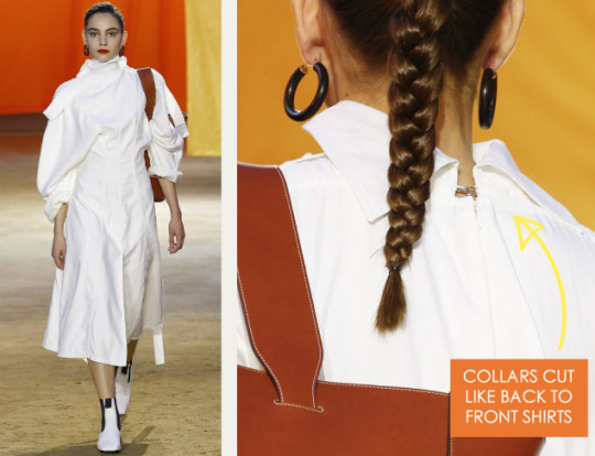 Lace Engineering at Céline | The Cutting Class. Céline, SS16, Paris, Image 15. Collars cut like back to front shirts.