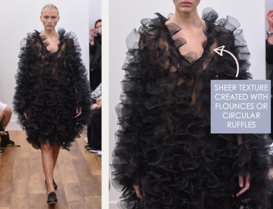 Flounces and Ruffles | The Cutting Class. Flounces at Noir Kei Ninomiya, SS16.