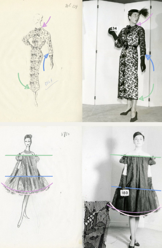 Thinking Like a Designer | The Cutting Class. Cristóbal Balenciaga images from the 1950s and 1960s.