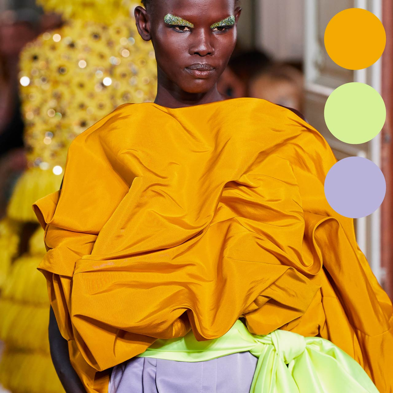 Bold Colour Combinations at Valentino Haute Couture AW19. The Cutting Class.