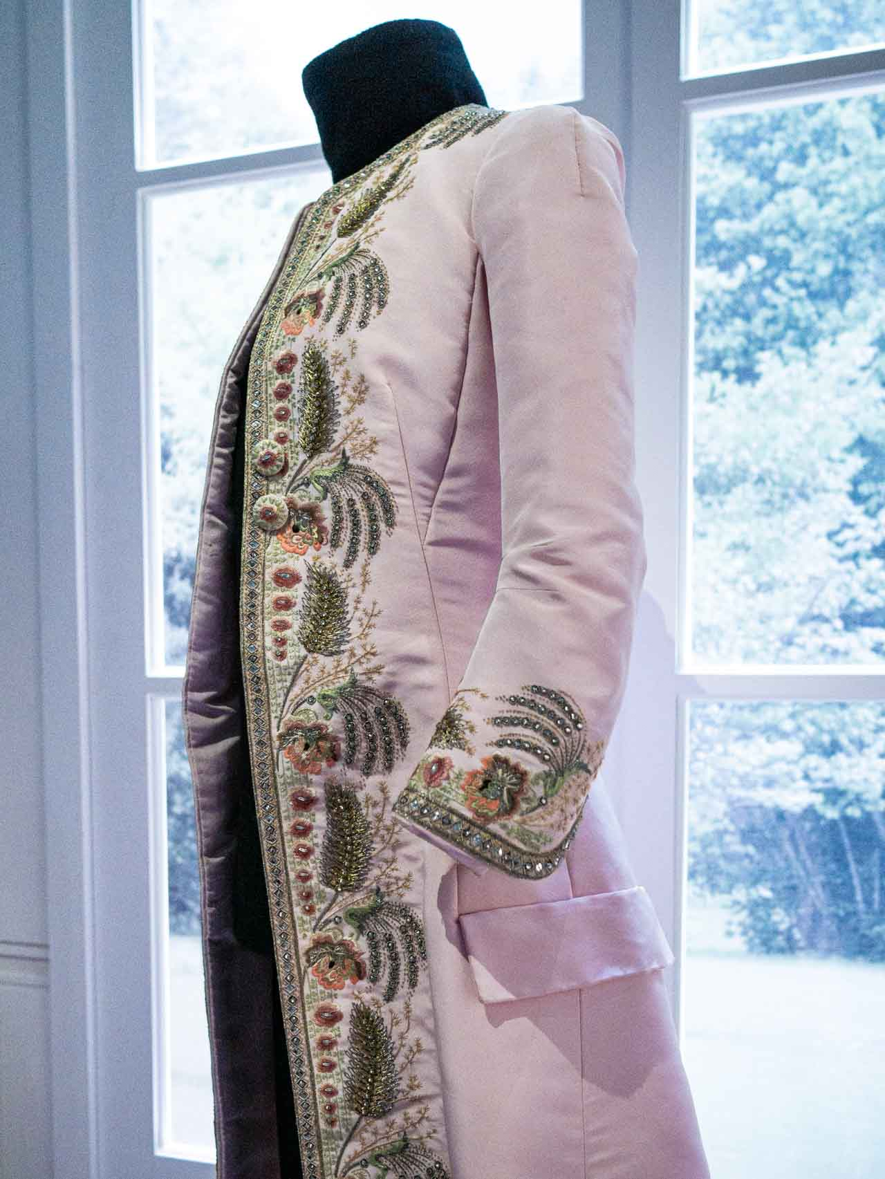 Pale pink coat referencing 18th-century court attire. Christian Dior by Raf Simons, Haute Couture, AW14. Taken at the V&A exhibition © The Cutting Class, 2019.