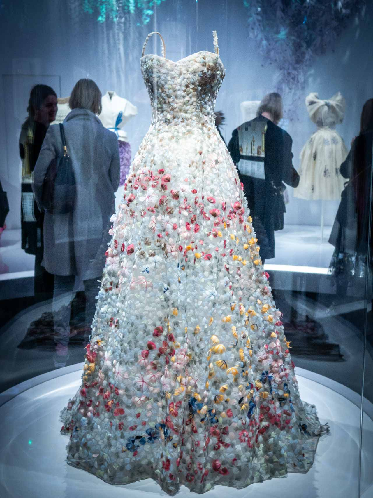 Jardin Fleuri Dress 'Garden in Bloom' designed by Maria Grazia Chiuri for Christian Dior, Haute Couture, Spring-Summer 2017. Taken at the V&A exhibition © The Cutting Class, 2019.
